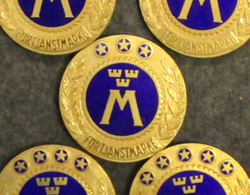 Motormännens Riksförbund, Förtjänstmärke, Swedish organization for motor vehicle-owners / Drivers