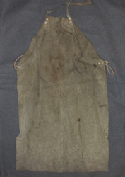 Blacksmiths apron, leather, Finnish army. Issued