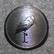 Marabou, karamellitehdas. Vanhan mallin lintu logo. 22mm