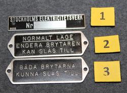 Stockholms Elektricitetsverk. merkkikilpi