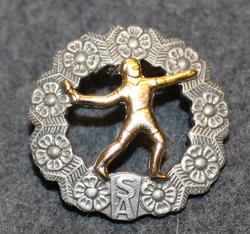 Kranaatinheittomerkki. Suomen armeija.