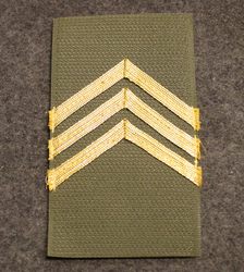 M/91 rank patches, Finnish Army, Corporal - Colonel