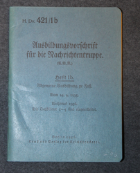 Ausbildungsvorschrift für die Nachrichtentruppe. Training instructions for communications troops.1935.