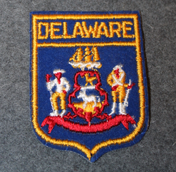 Delaware, matkamuisto kangasmerkki.