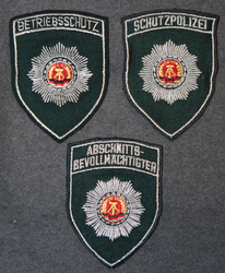 DDR, Volkspolizei,  Peoples police of East germany, shoulder sleeve patches