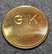 Stockholms stads Gatukontor, parkeringssektionen. Parking token. 22mm
