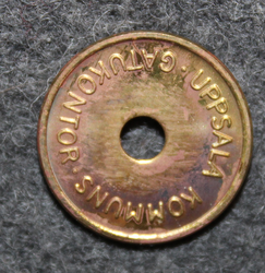 Uppsala Kommuns gatukontor. Parking token