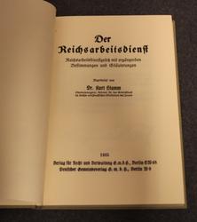 Der Reichsarbeitsdienst, Valtakunnan työpalvelu, 1935