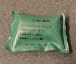 5pcs First aid field dressing, Finnish