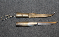 Finnish knife, Silver scabbard.