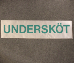 Undersköt, swedish assistant nurse reflective patch.