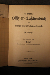 Offizier Taschenbuch. German officers handbook 1918