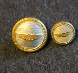 SAS, Scandinavian airlines, uniform buttons.