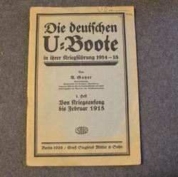Die deutschen U-Boote in ihrer Kriegsführung 1914-18