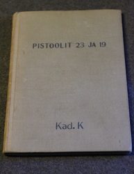 Finnish Army M/23 & M/19 pistol manual. 1925