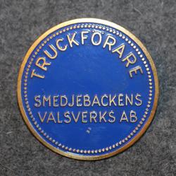 Truckförare, Smedjebackens Valsverks AB. Trukkikuski. 40mm