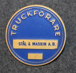 Truckförare, Stål & Maskin A.B. Fork lift operator. 40mm