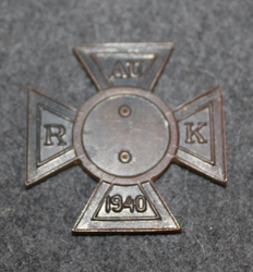 Finnish Army 1940, Reservist NCO badge, baseplate.