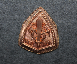 WW2 Finnish Engineers, NCO school graduation badge baseplate.