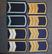 Neuvostoliittolaiset olkapoletit. Sininen pohja.