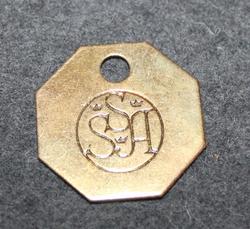 SSA, Svenska Sockerfabriks Ab. Sokerin valmistaja. 8-kulmainen
