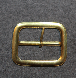 Belt buckle, brass, 40mm belt.