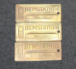 Hemstation, Iggesund, Korsnäs, Vivstavarv. Station labels.