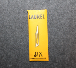 Scalpel bladed, 6pcs /pack. Laurel Sheffield
