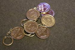 Silver Dollar's avaimenperä, 1970 lukua. alkuperäinen.