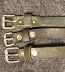Finnish army utility strap, 300x20mm, sturdy, leather.