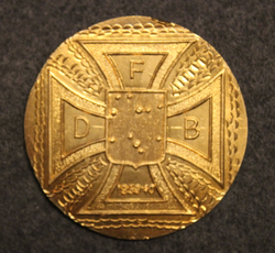 DFB, Danish volunteers in Finnish winter war 1939-1940 commemorative badge base plate.   LAST IN STOCK