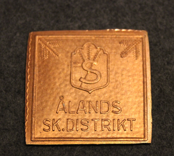 Ålands SK Distrikt, homeguard badge base plate.