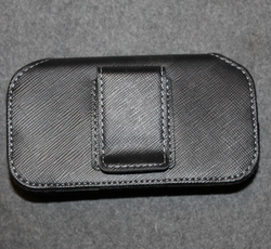 UK customs / border guard, belt holster, black, velcro.