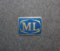 Malmö Lokaltrafik, ML Cap badge, suede finish.