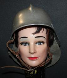 Firefighters Helmet, Finnish M/35 + neck shield.