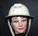 British safety helmet, 1950-1960 style, nice condition.