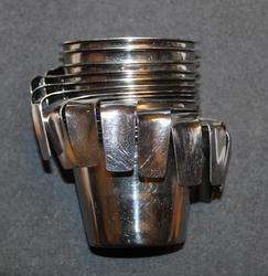 Stainless Steel mug w/handle, Finnish 3dl.