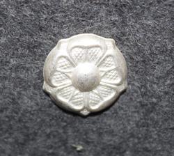 Arvomerkki, Suomi, 15mm ruusuke, hopeinen.