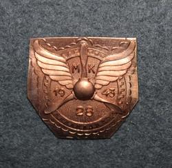 MK28 1943, Suomen ilmavoimien mekaanikkokurssimerkin pohjalevy.