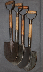 Entrenching tool, Finnish army, Original WW2, SA / German stamps