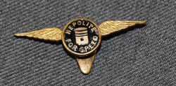 Hepolite for speed buttonhole badge.