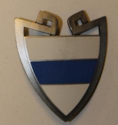 Helmete badge Swiss Police. Zug