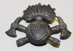Helmet badge Swiss Fire dept. Vaud