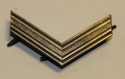 Swiss Rank insignia. 38 mm silver. V-shape