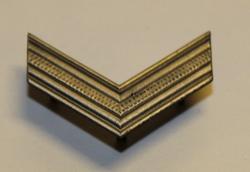 Sveitsiläinen arvomerkki. 28mm hopeinen, kulmarauta.