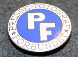 Presse-fotogaf förbundet ( Danish Union of Press Photographers ) lapel pin
