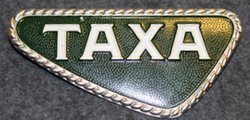 Taxa ( danish cab / taxi ) Badge