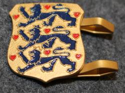 Danish cap badge, National Coat of Arms
