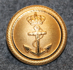Søværnet, Royal Danish Navy, gilt, 24mm