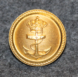 Søværnet, Royal Danish Navy, gilt, 18mm